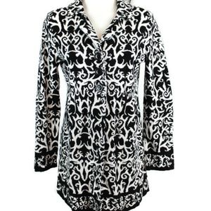 Style & Co Damask Babydoll Style Jacket Tunic